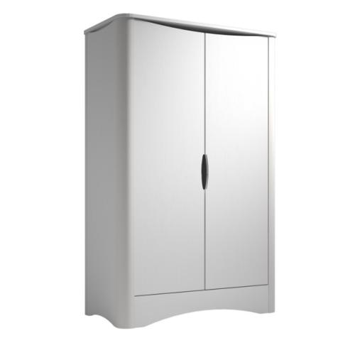 ARMOIRE 2 PORTES PROFILES EN ALUMINIUM LAQUE BLANC COLLECTION FUSION